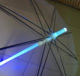 In het groot Auto Open Kleurrijke Transparante Paraplu met Flitslicht