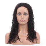 Длинние парики фронта шнурка Glueless человеческих волос 16-24 дюймов курчавые