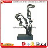 Statue su ordinazione del Figurine dell'estratto della resina della fabbrica poli con i colori dell'argento o del bronzo