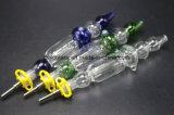 tubo de agua de cristal de 10mm/14m m que fuma con los clavos del cuarzo