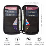 Travel To zip Box Document Organizer Waterproof Wallet Family Passport Holder