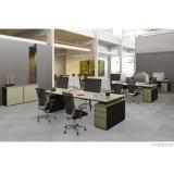 4 Lugares de estação de trabalho de escritório com Armário Médio para bagagem