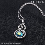 43093 Xuping neue Entwurfs-Form-Kristalle von der Swarovski Goldhalskette