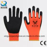 7 gants enduits de sûreté de l'hiver de latex de doublure acrylique de couche de mesure (L010)