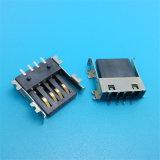 Plástico conetor da montagem do PWB do USB de 180 graus
