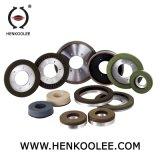 Capa de trabajo con el tipo rueda que ajusta mojada del saetín del diamante del enlace de la resina