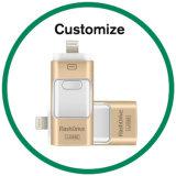 Movimentações relativas à promoção da memória Flash do presente OTG USB3.0 para o Android do iPhone