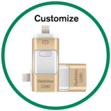 Mecanismos impulsores promocionales de memoria Flash del regalo OTG USB3.0 para el androide del iPhone