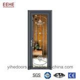 Puerta de aluminio interior del vidrio helado del diseño moderno para el lavabo