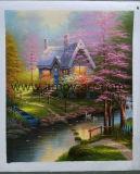 Riproduzione della pittura a olio di paesaggio del giardino del Thomas di capolavoro su tela di canapa per le pareti