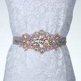 도매 고급 결혼 예복 결정 다이아몬드 벨트 부속품