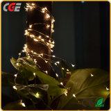 Luzes de Natal feericamente da corda do diodo emissor de luz com o diodo emissor de luz branco no melhor preço do fio de cobre
