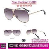 18535 lunettes de soleil siamoises en métal neuf unisexe de mode
