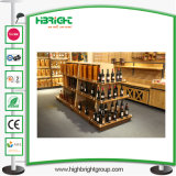 Supermarkt-Wein-Bildschirmanzeige-Regal-Zahnstange