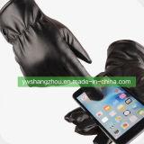 Верхняя продавать моды мужчин PU перчатки с сенсорным экраном средний размер осенью и зимой