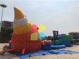 大きく膨脹可能なタコ水公園のスライドか膨脹可能な水ゲーム