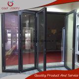 Portello di vetro interno di alluminio rivestito del portello di piegatura di vetratura doppia di potere