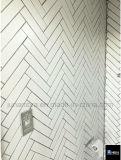 2018 Nueva llegada Espina de Pez Mosaico de porcelana esmaltada pared45x195mm