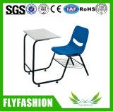Einfache Art-kombinierter Kursteilnehmer-Schreibtisch und Stuhl-Klassenzimmer Furnture (SF-93S)