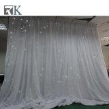 Le rideau en étoile de DEL allume des nécessaires de rideau en tissu pour le mariage d'événement