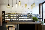 대중음식점 훈장을%s 포도 수확 색깔 창조적인 개성 유리제 거는 램프