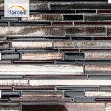 Mattonelle di mosaico di vetro nere lucide della striscia calda di vendita di Foshan per la decorazione domestica