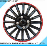 """Dos colores de plástico de la rueda de coche universal cubre en 13""""14""""15"""""""