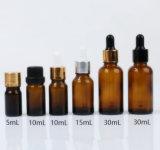 こはく色のブラウンの化粧品5ml 10ml 15ml 20ml 30ml 50ml 100ml Essentia Oillのガラス点滴器のびん
