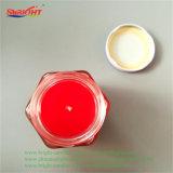 Roter grosser Kristall kann ursprüngliche Kerze mit Metallkappe