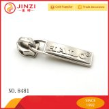 На заводе Jinzi новых продуктов металлические молнии ползунок и съемника