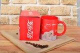 La China Roja taza esmalte adhesivo personalizados a caja de regalo Bresh bastante ligero
