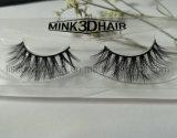 3D multicapa Mink Fur pestañas suaves cómodas Pestañas postizas pestañas rizadas doble