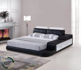 Foshan-modernes Hauptmöbel-Doppelt-Leder-Bett