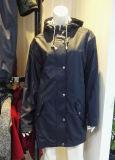Женщин PU куртка с Джерси внутренней панели боковины