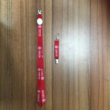 ID Card Holder를 위한 주문 실크 Screen Printed Logo Retractable Nylon Neck Lanyard