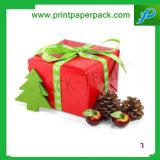 아름다운 꽃 Bowknot 보석함 포장 상자를 가진 포장 선물 악대 상자 빨간 상자