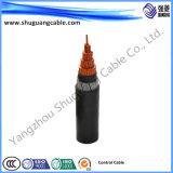 Yjvp 2 сердечника XLPE изолировало обшитый PVC силовой кабель экрана