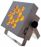 Rasha Hot Sale 12*18W UV Rgbaw 6en1 Alimentation de la batterie à plat de lumière LED sans fil de fer par Projecteur PAR64 pour cas de mariage