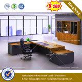 Tableau en verre à base métallique /Desk (HX-8NE018C) de bureau de gestionnaire de chrome