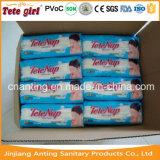 Almofada sanitária de 280 mm para senhoras / pacote longitudinal Depósito higiênico