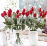 Reale Note Silk künstliche rote Rose blüht gefälschte Blumen für Haupthochzeits-Dekoration