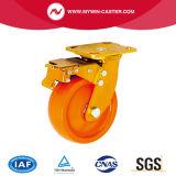 Örtlich festgelegtes Platte Hochleistungs-PU-Rad-Nylonkern-Fußrolle