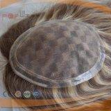 Cheveux humains pu vendre à chaud de qualité supérieure à la frontière Toupee (PPG-L-01296)