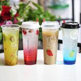 Tazze di tè di plastica della bolla della tazza di plastica a gettare di categoria alimentare dei pp Materia 16ozl