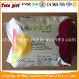Wegwerfgesundheitliche Serviette der dame-Use Anion, gesundheitliche Auflage-Hersteller in China