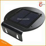 Solar LED circular de pared de luz exterior para jardín y patio de la familia Lámpara Solar