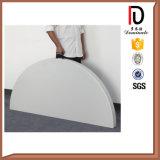 結婚式(BR-P008)のための白い円形のプラスチック屋外の折りたたみ式テーブル