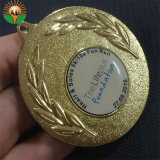 Оптовая торговля металлическими пустым медаль с лентой (XD-03027)