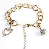 Bracelet fait sur commande de diamant de logo de coeur de filles de qualité de mode