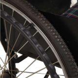 환자를 위한 접히는 알루미늄 수동 휠체어